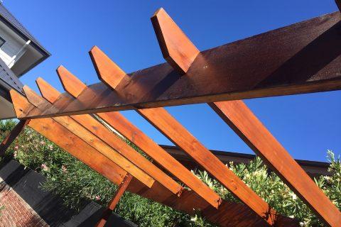 Ironbark pergola